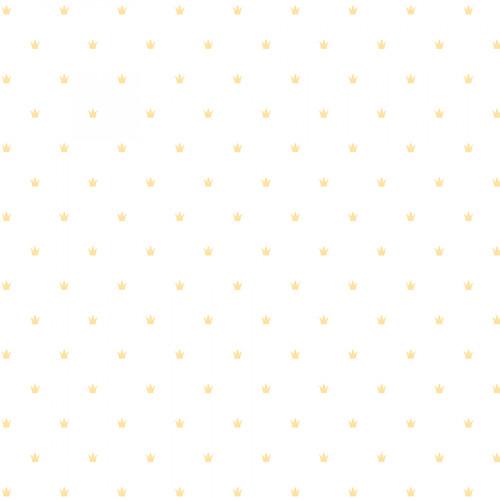 Calque imprimé Lovely Swan Couronnes dorées
