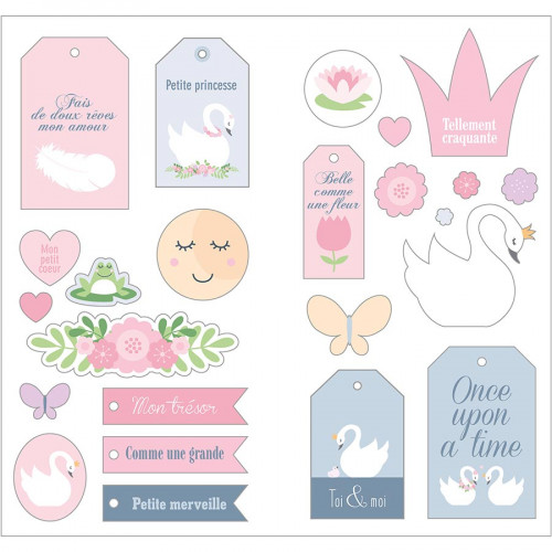 Puffy Sticker XL Lovely Swan