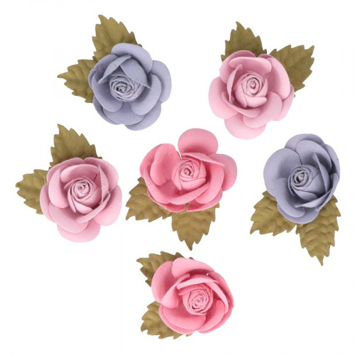 Fleurs en papier Lovely Swan - 6 pcs