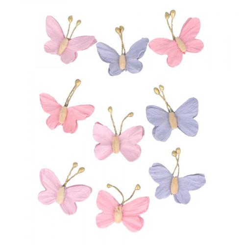 Papillons en papier Lovely Swan - 9 pcs