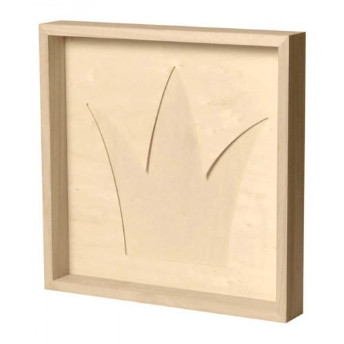Cadre en bois 30 x 30 cm Couronne