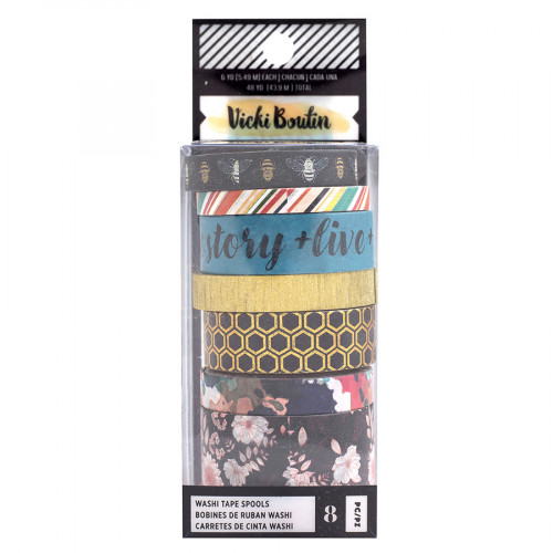 Wildflower and Honey Washi Tape - 8 rouleaux