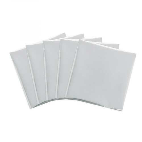 Assortiment de 15 feuilles de Foil Silver Swan - 30 x 30 cm