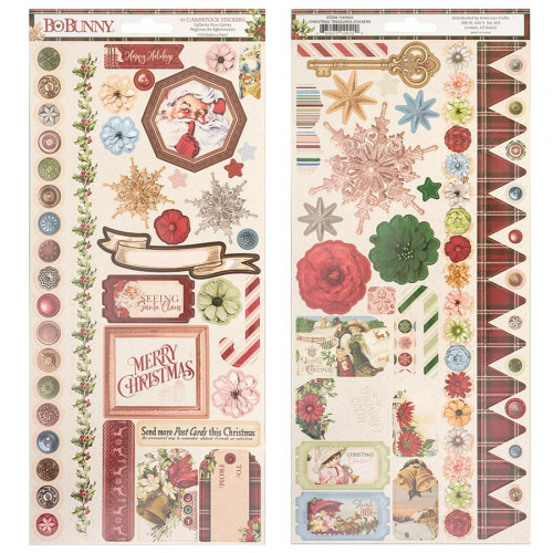 Christmas Treasures Stickers - 67 pcs