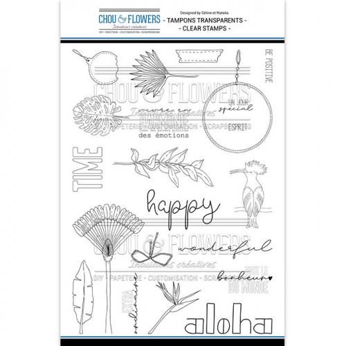 Tampons transparents En harmonie - 21 pcs