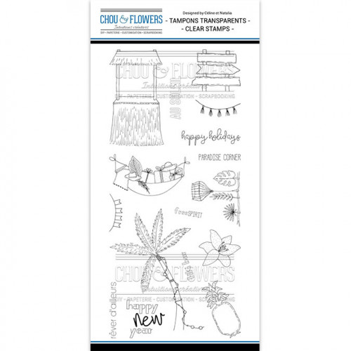 Tampons transparents Tiki - 16 pcs