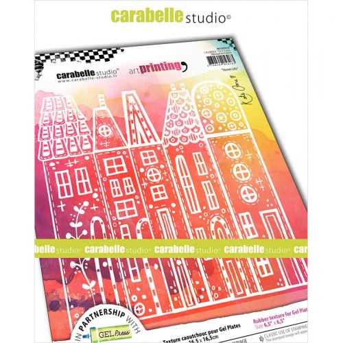 Tampon texture pour Gel Press Vie de rue - 16,5 x 16,5 cm