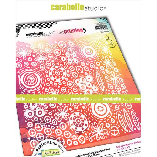 Tampon texture pour Gel Press Doodle - 16,5 x 16,5 cm