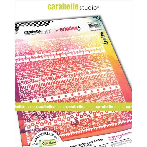 Tampon texture pour Gel Press Lignes graphiques - 16,5 x 16,5 cm