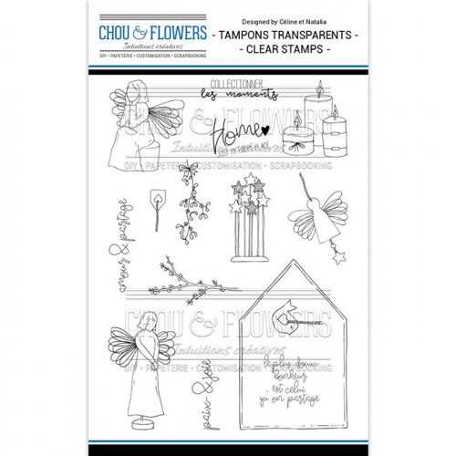 Tampons transparents Les anges - 15 pcs