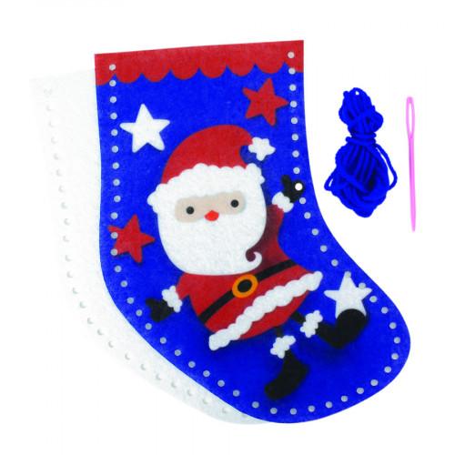 Chaussette du Père Noël kit feutrine