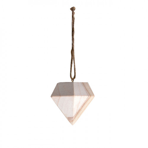 Diamant en bois 7 x 6 x 6 cm