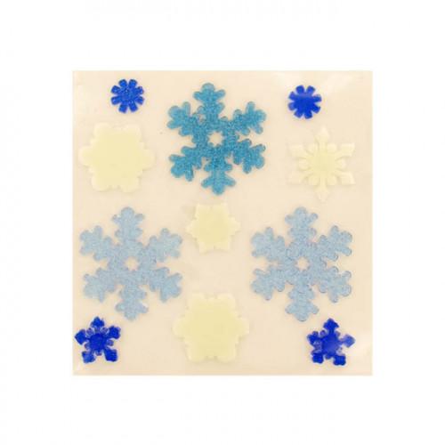 Décoration de Noël vitrostatique Flocon gelly 11 pcs