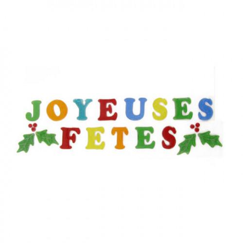 Décoration de Noël vitrostatique Joyeuses Fêtes gelly 23 pcs