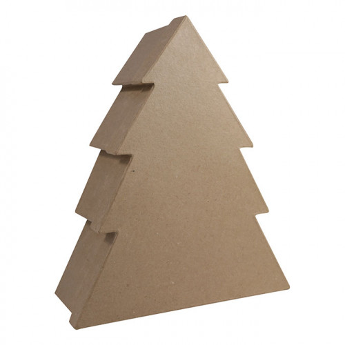 Boîte en papier mâché Sapin 10 x 29,5 x 25 cm