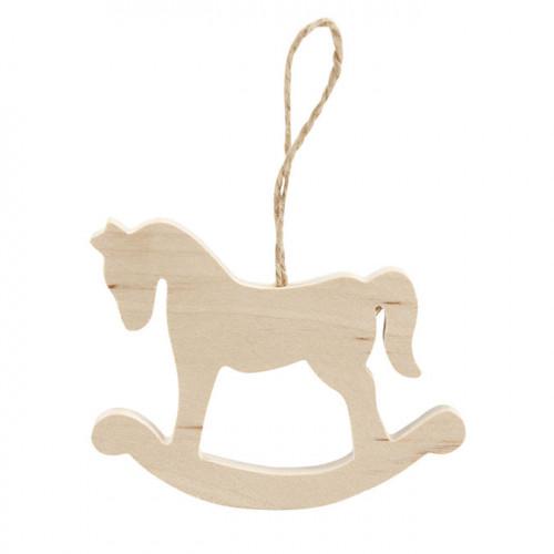 Cheval à bascule en bois 6 x 8 cm