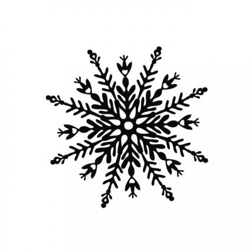 Tampon Flocon de neige 6 x 6 cm