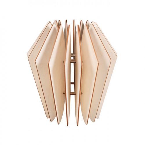 Lampe en bois à lamelles Kopenhagen 22 x 22 x 35 cm