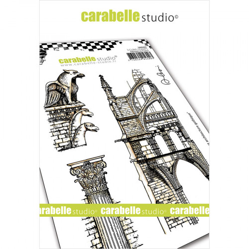 Tampons Cling Gargouille et architecture gothique - A6