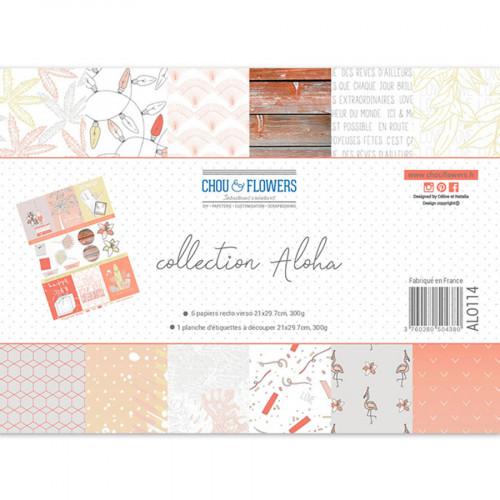 Assortiment de papiers imprimés Aloha - A4