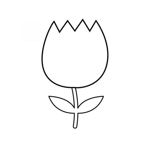 Tampon bois Tulipe - 2,6 x 3,6 cm