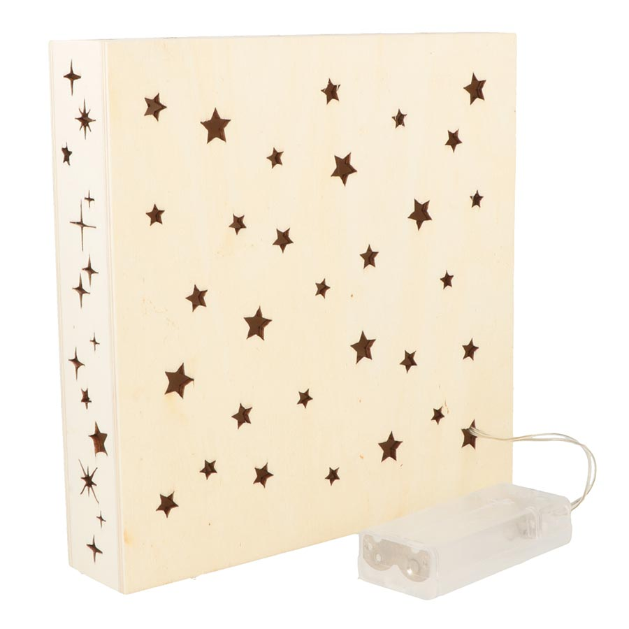 Lampe 3 LED Lovely Swan - 18 x 18 x 3,8 cm
