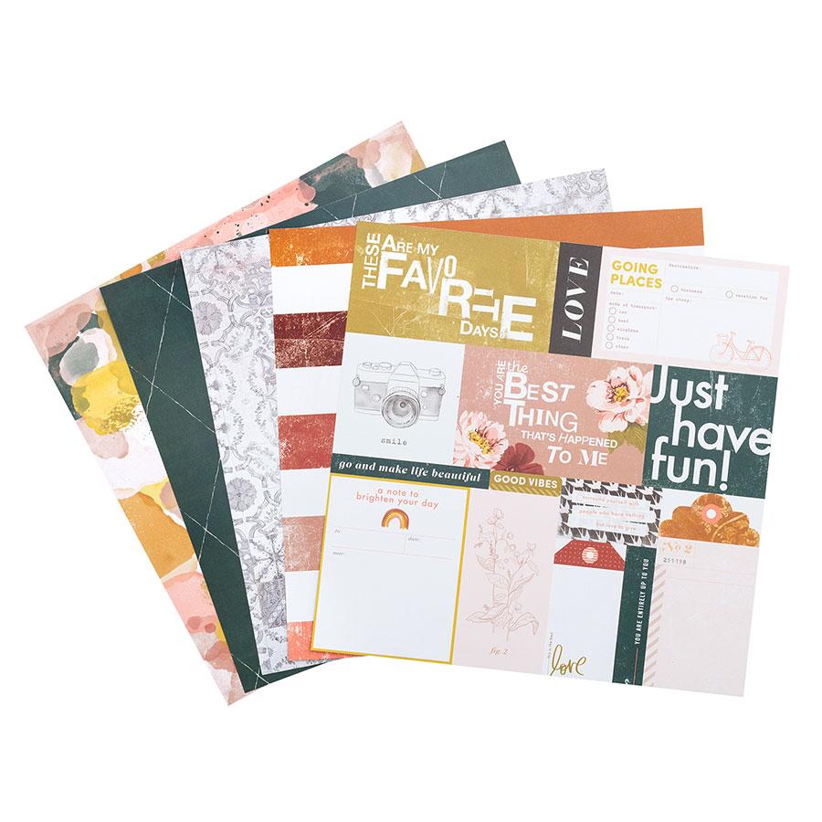 Honey & Spice Bloc de papiers 30 x 30 cm
