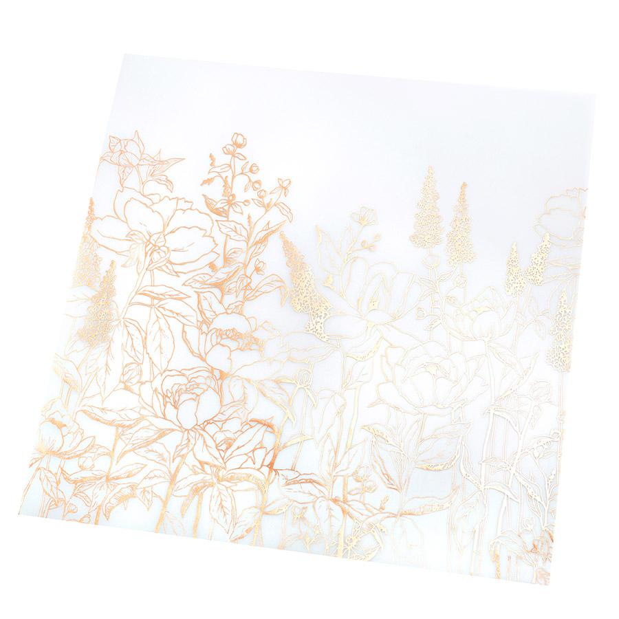 Honey & Spice - Papier spécial Vellum à motifs floraux dorés