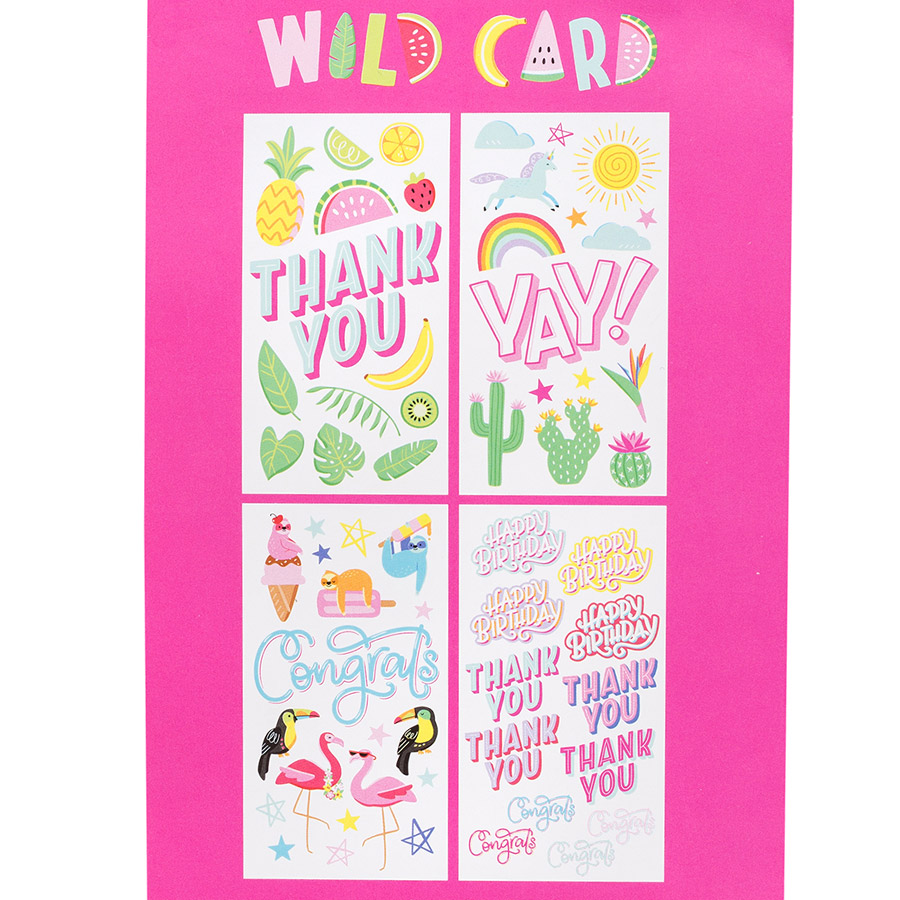 Wild Card Rub-ons - 4 planches