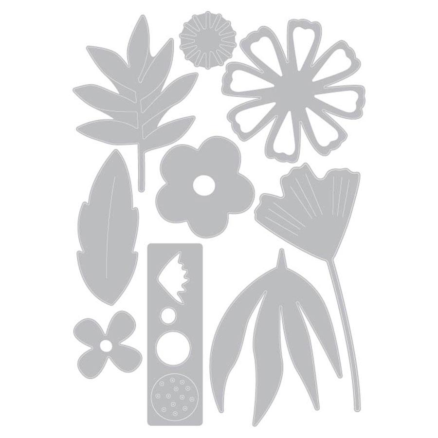 Thinlits Die Set Fleurs freestyle - 9 pcs