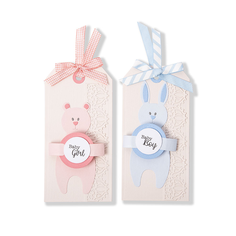 Thinlits Die Set Lapin et ours câlin - 5 pcs
