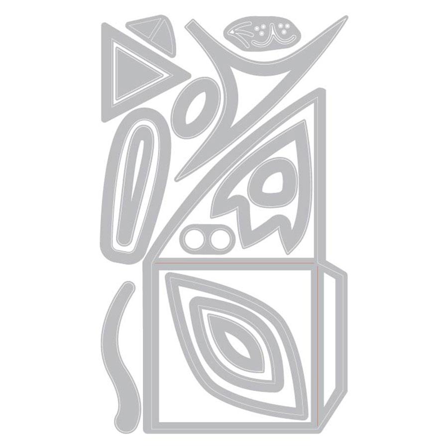 Thinlits Die Set Marque-pages Animaux - 16 pcs