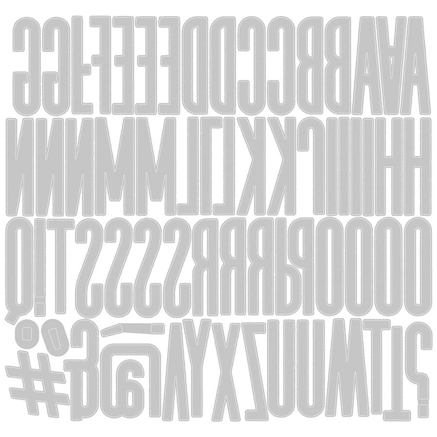 Thinlits Die Set Alphanumérique classique (majuscules) - 65 pcs