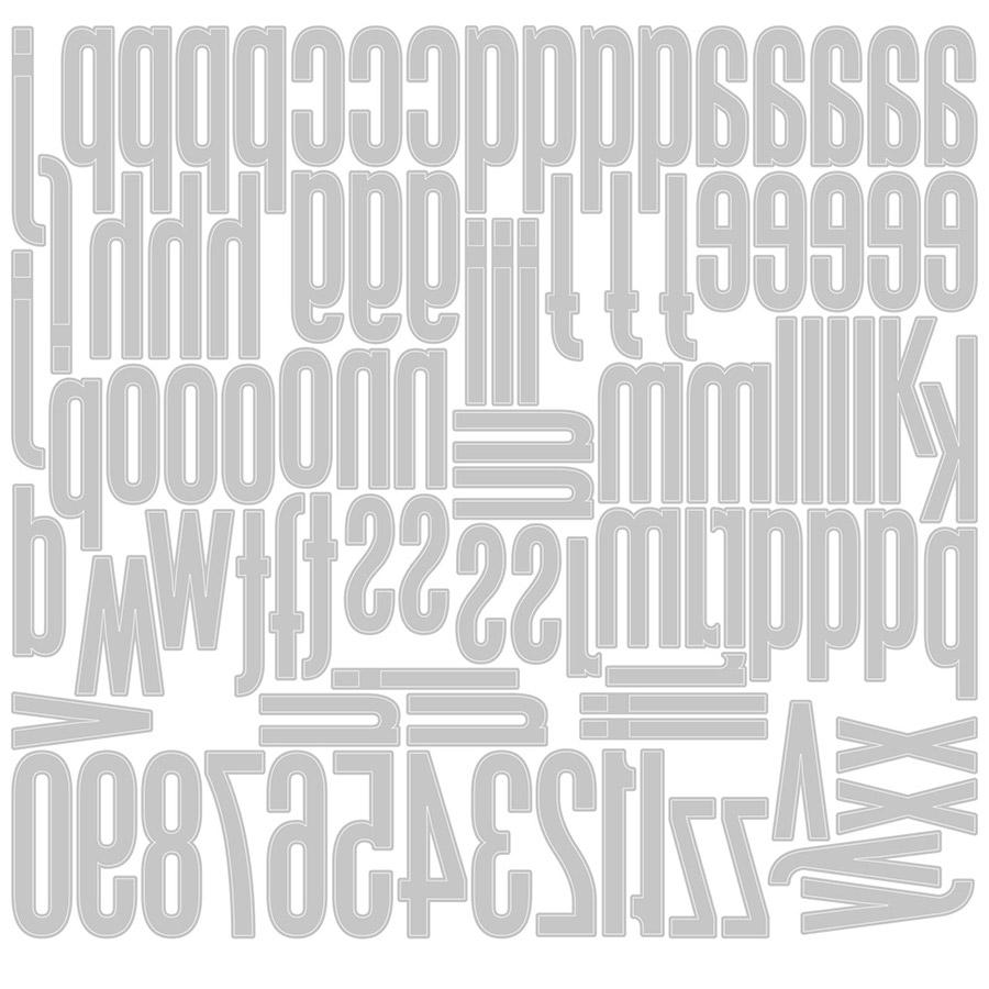 Thinlits Die Set Alphanumérique classique (minuscules et chiffres) - 96 pcs