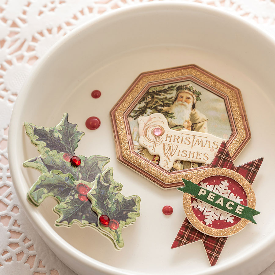 Christmas Treasures Stickers 3D - 8 pcs
