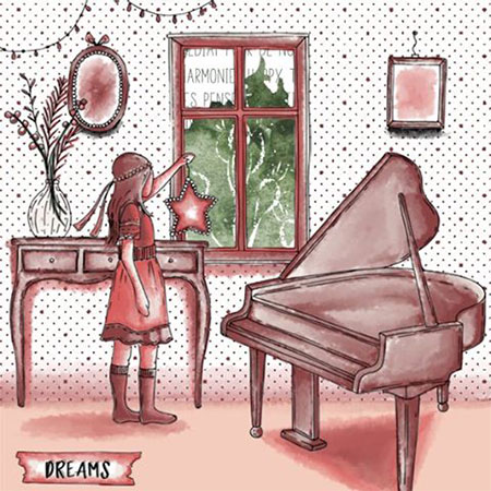 Tampons transparents Le Piano - 15 pcs