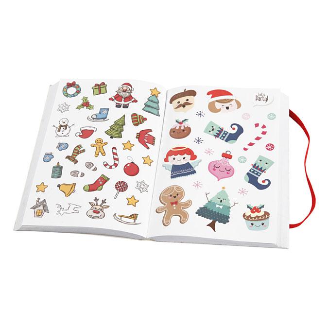 Livre d'autocollants Thème de Noël +/- 1700 motifs