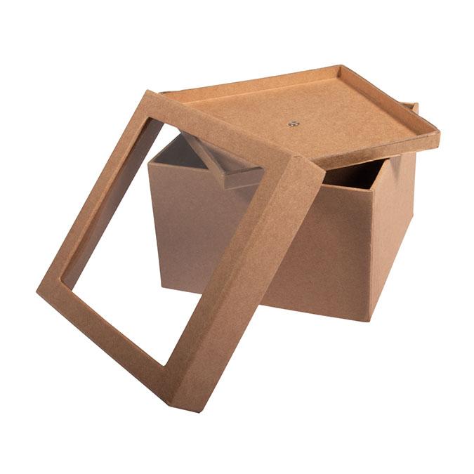 Boîte en papier mâché Couvercle à secouer 12,5 x 9 cm