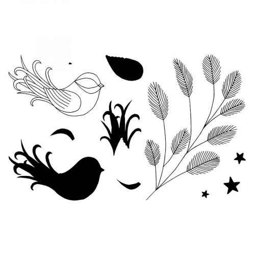 Tampons transparents Oiseau