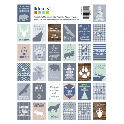 Stickers timbres Woodland