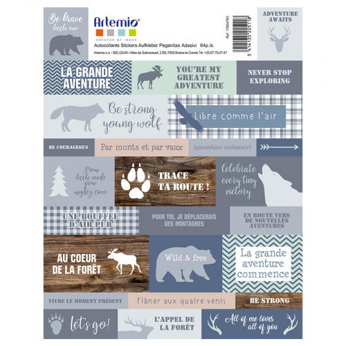 Stickers texte Woodland