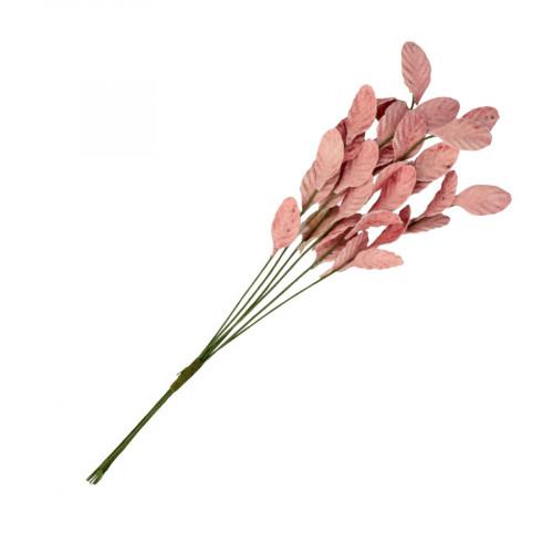 Branche Feuilles roses - 1 pcs