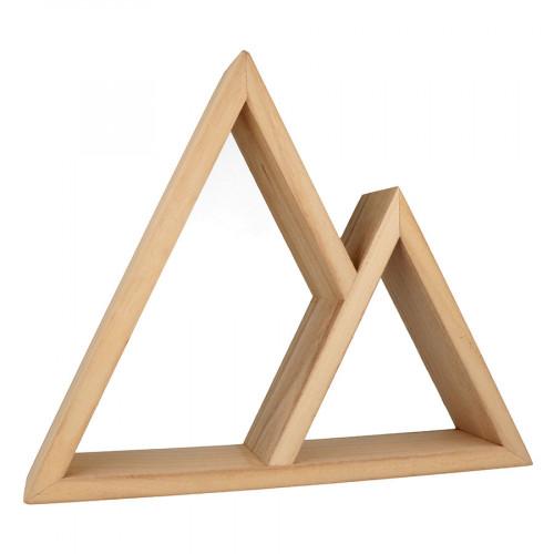 Etagère 2 triangles - 37 x 30 x 8 cm