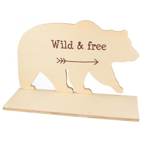 Etagère Ours en bois - 30 x 19 x 10 cm
