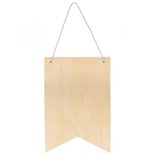 Fanion en bois - 24 x 35 cm