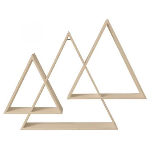 Etagère 3 triangles imbriqués - 73 x 56 x 12 cm