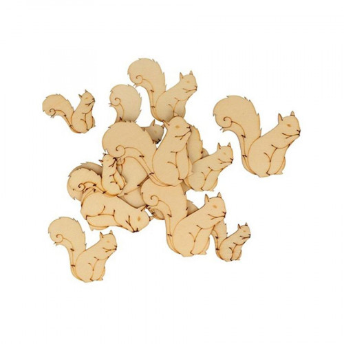 Ecureuils en bois - 30 pcs