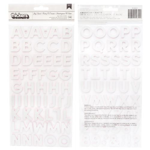 Alphabet Stickers Iridescents - 108 pcs