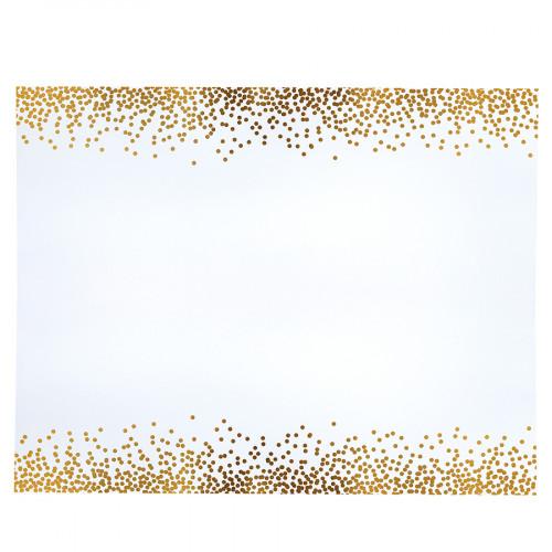 Poster Board Papier affiche Bordures Confettis Or - 56 x 71 cm