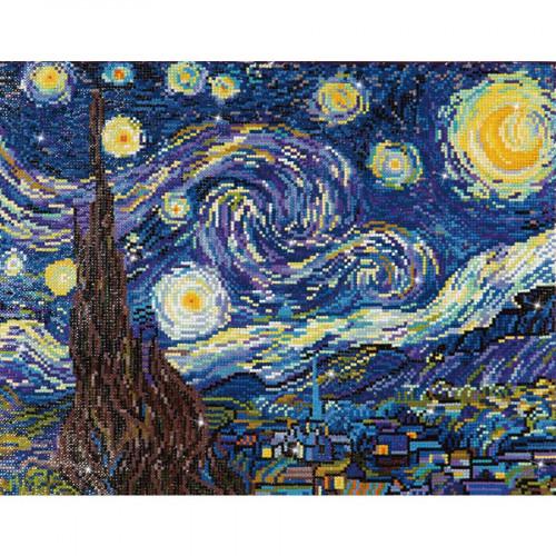 Kit tableau Strass Diamond Dotz La nuit étoilée de Van Gogh